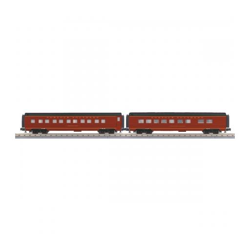M.T.H. Electric Trains O-27 60'' Streamline Sleeper/Diner Set, NS (2)