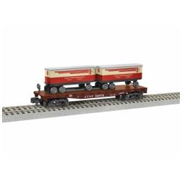 Click here to learn more about the Lionel S AF TOFC Flatcar, SF #92875.