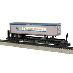 Click here to learn more about the M.T.H. Electric Trains S Flat w/48'' Trailer, B&O #8780.