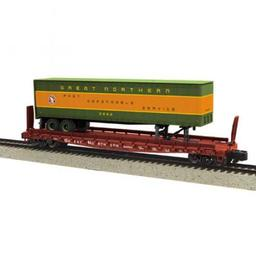 Click here to learn more about the M.T.H. Electric Trains S Scale Flat w/48'' Trailer, GN #60252.