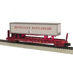 Click here to learn more about the M.T.H. Electric Trains S Scale Flat w/48'' Trailer, WM #2622.