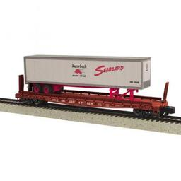 Click here to learn more about the M.T.H. Electric Trains S Scale Flat w/48'' Trailer, SBD #47128.