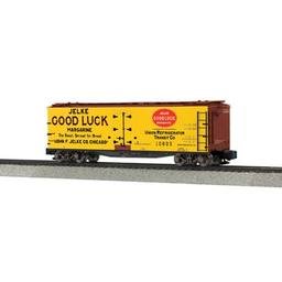 Click here to learn more about the M.T.H. Electric Trains S 40'' Wood Reefer, Jelke Good Luck Margarine#10805.